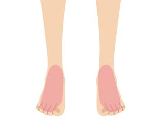 足の甲(指含む)